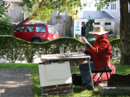 Elaine-Painting-Outdoors