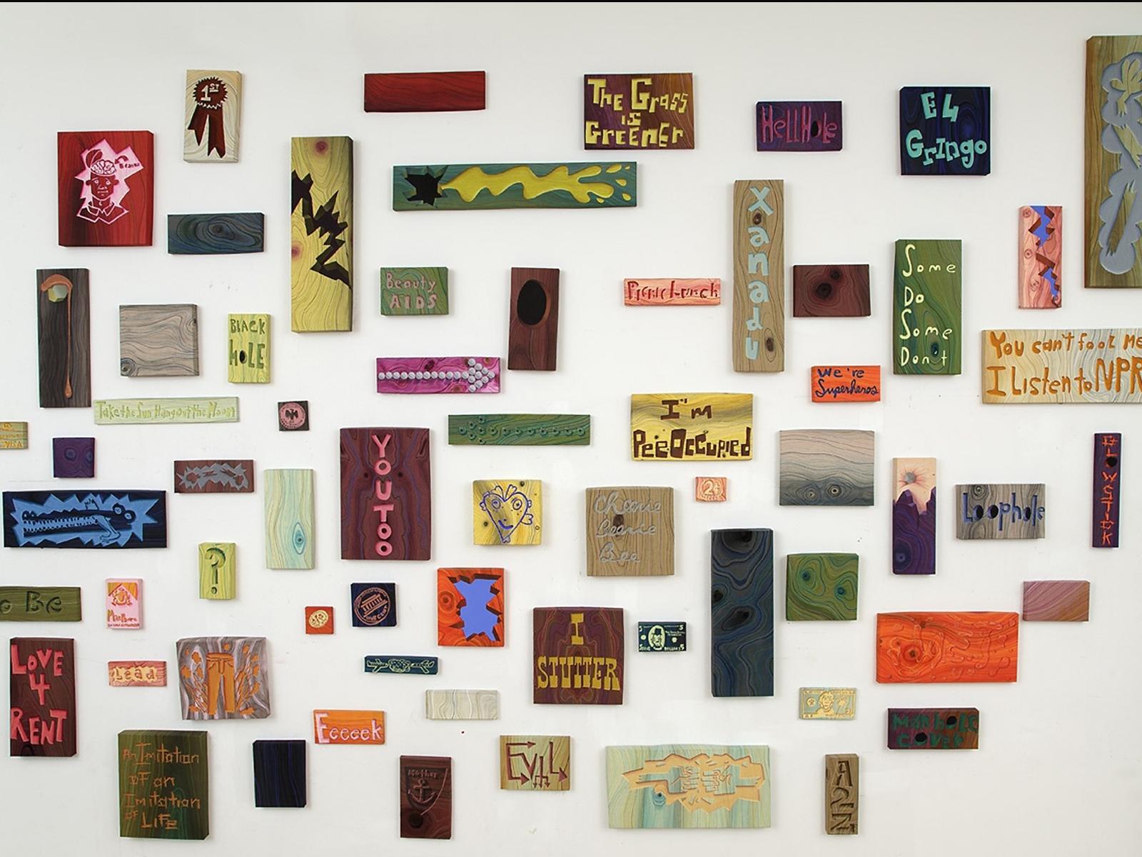 Steve DeFrank, wall installation, 2013 Recipient