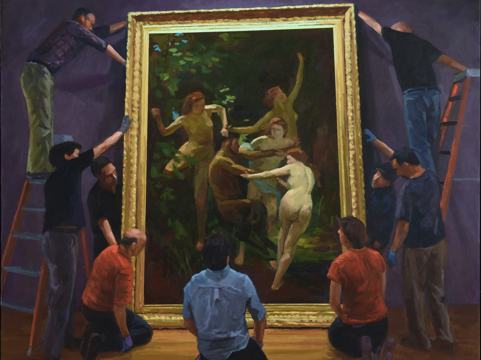 Frank Gregory, Preparators, Nymphs and a Satyr, 2016 Recipient