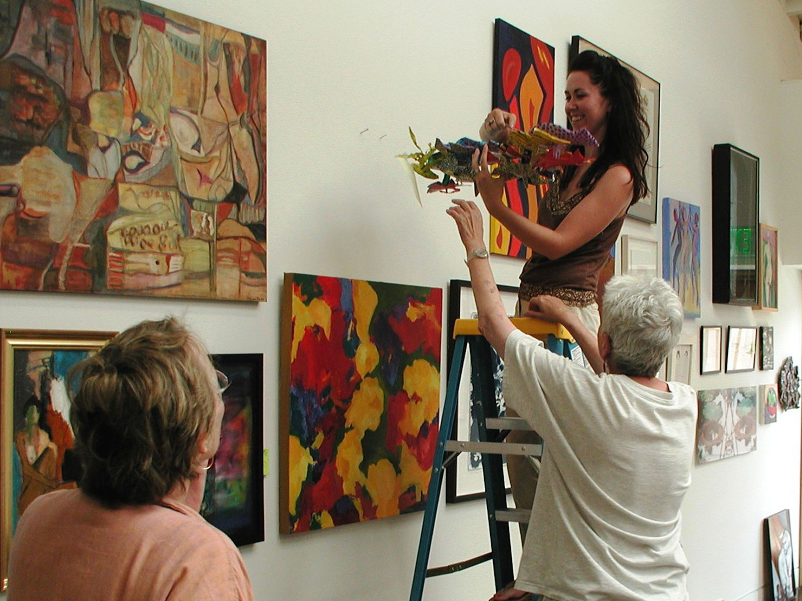 Volunteers in the gallery