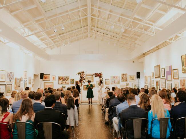 PAAM wedding in the Hofmann Gallery